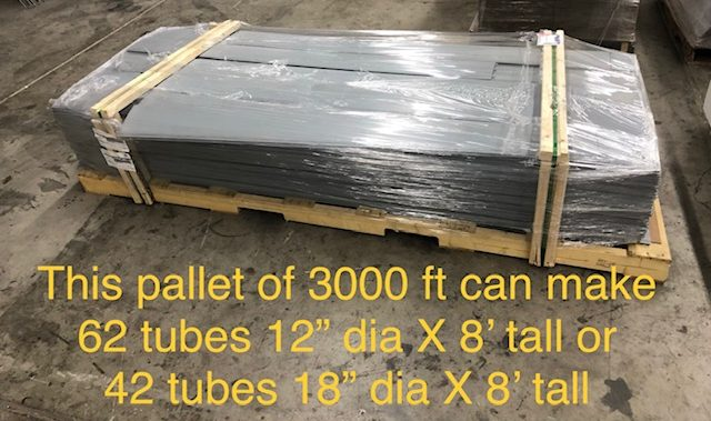 Strips are compact for shipping and storage