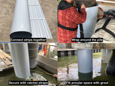 Pile Encapsulation (Column Repair)